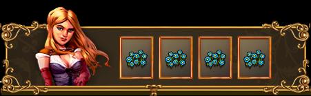 4 Niebieskie kwiaty na wyspę lub prezent
