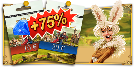 75% Bonus auf 'Die Siedler Online' Prepaid-Karten