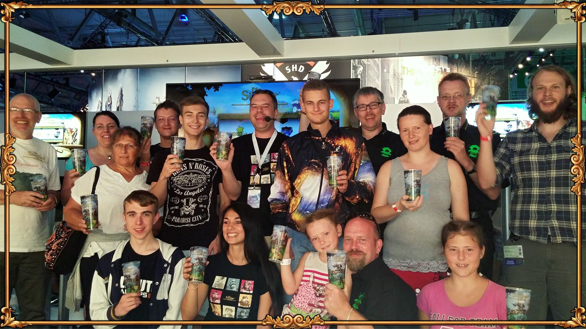 Just a few of the Settlers fans who visited us @gamescom
