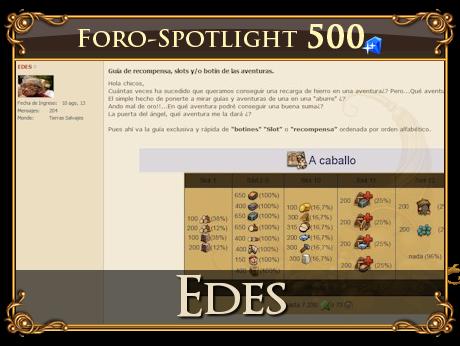 ¡Foro Spotlight - Edes!